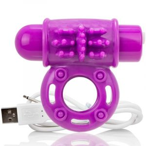 Bague rechargeable vibrante violet – Screaming O
